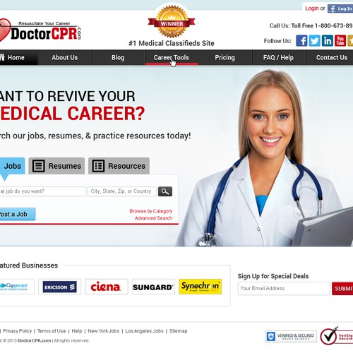 Home Page for Medical Website. Plan to hire winner for more pages