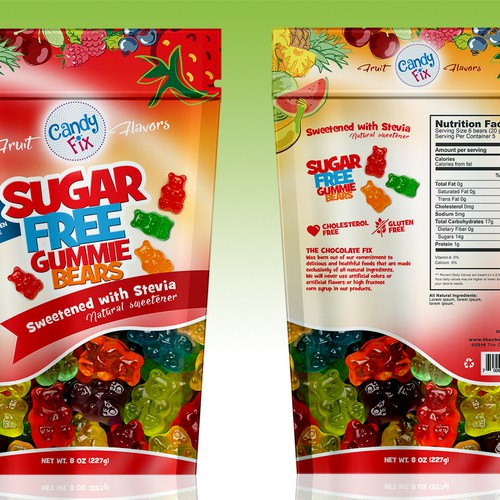 Bag for sugar free gummies