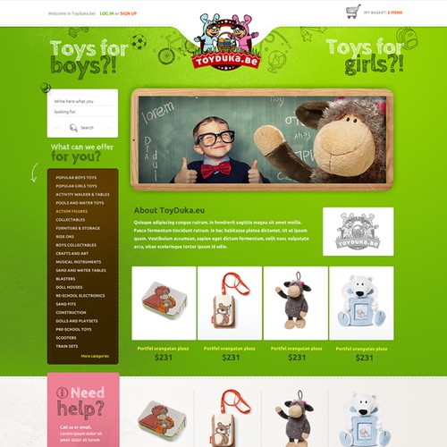Creative design for toy shop