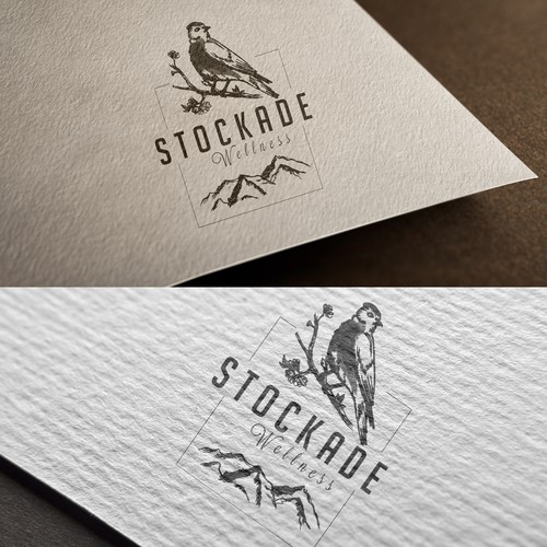 We prefer hand drawn, hipster, stamped looking logo.