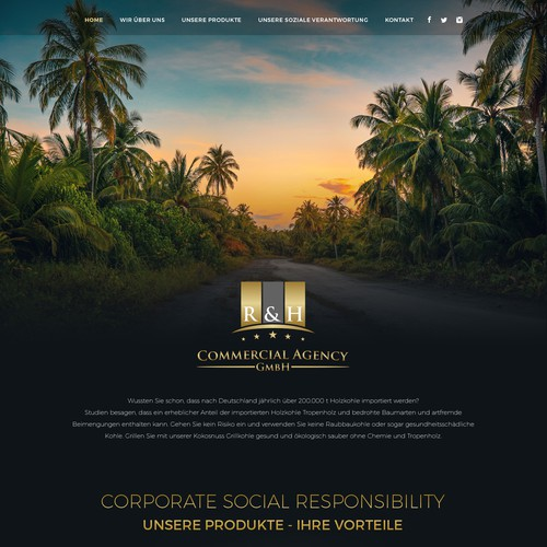R&H Commercial Agency website.