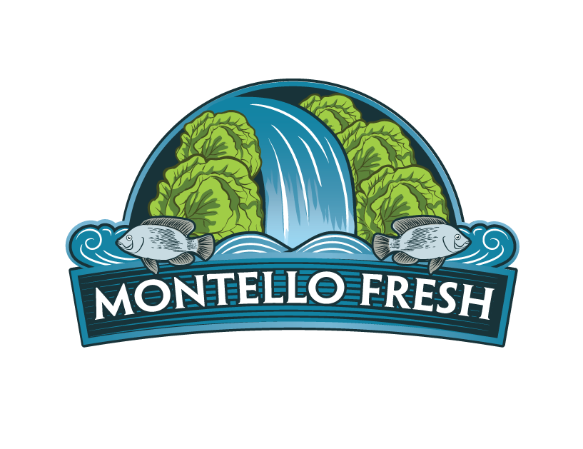 Montello FRESH - fish & vegetable company - needs an organic inspired logo with a waterfall illustration + vegetable illustratio