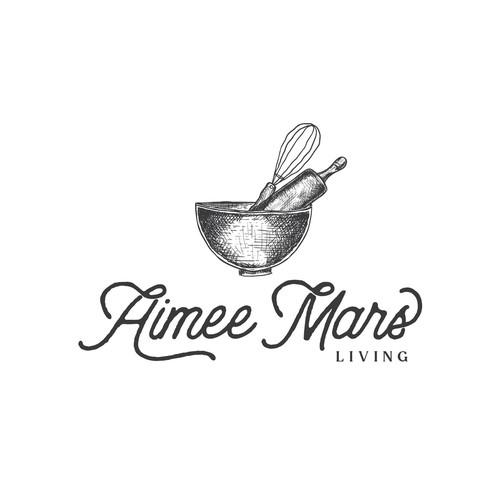 Hand drawn food blogger logo