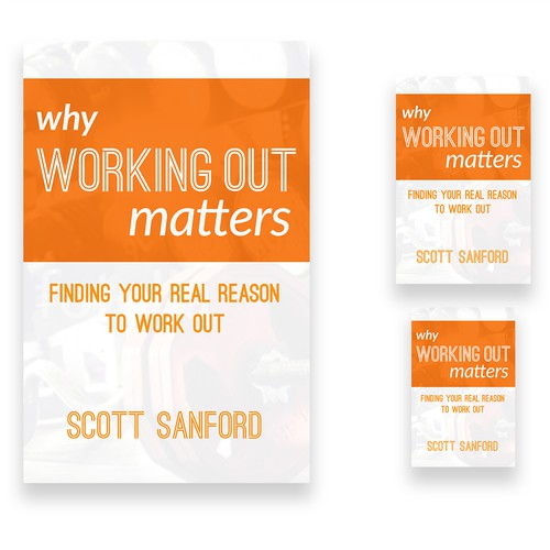 Book cover concept for a book about fitness
