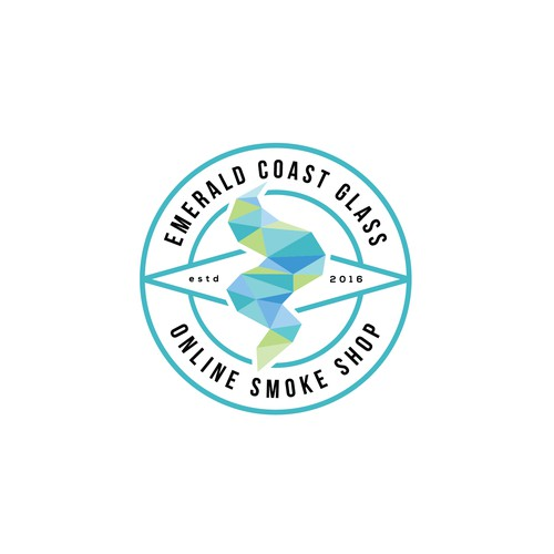Logo for an online smoke shop