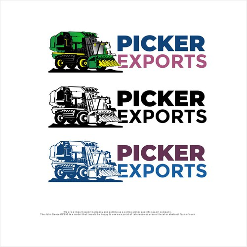 Logo for import Export company