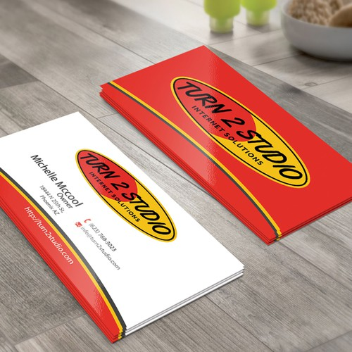 Create a surfer theme business card