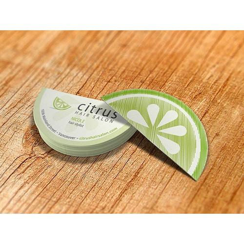 Citrus business card redesign