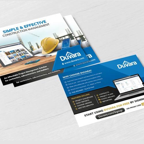 Construction company postcard