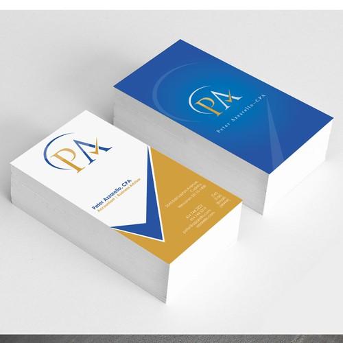 Logo & Business Card for Peter Azzarello, CPA