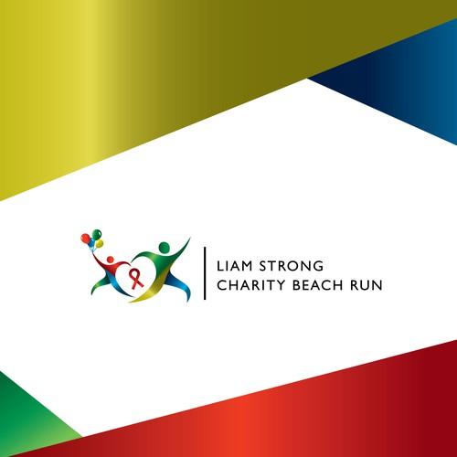 Liam Strong | Charity Beach Run - Logo Concept