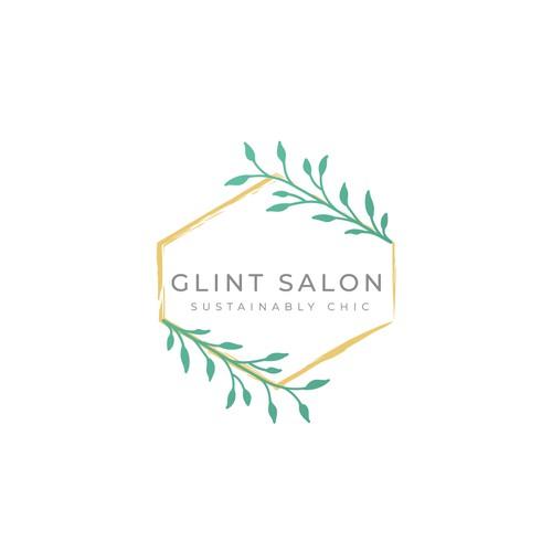 Elegant feminine logo for Glint Salon