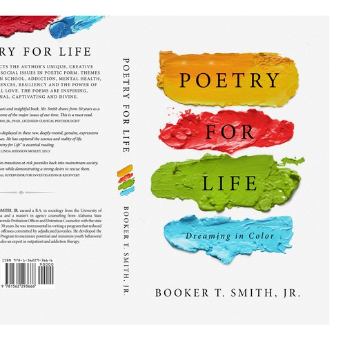 Poet needed Colorful Bookcover Design