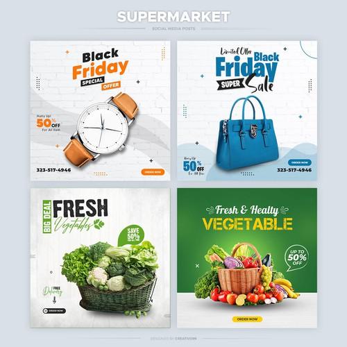 Social Media Ad for Supermarket