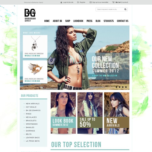 website design for Barbarian Gypsy