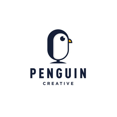 Simple Playful and Youthful Logo Concept for Penguin Creative