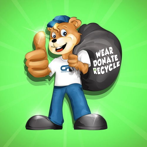 """Teddy Says """"Wear Donate Recycle"""""""