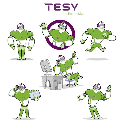mascot design for TESY - leading European electrical technology company