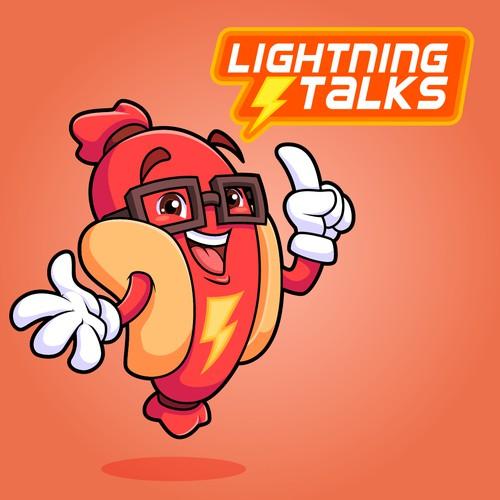 Lightning Talks Smiling Sausage Mascot