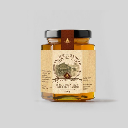 Honey bottle lable design