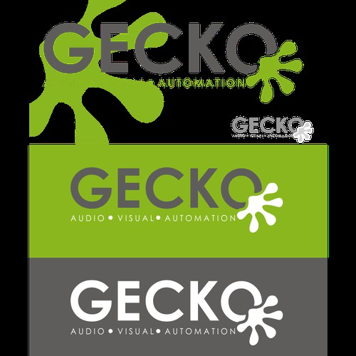GECKO  - Logo design.  Quirky, simple, sophisticated.  AV INSTALL COMPANY