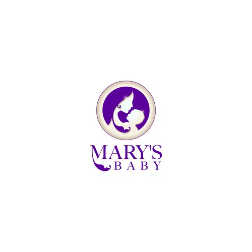 Logo for Mary's Baby brand Baby and Mom care products.