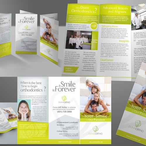 brochure design for Dunn Orthodontics
