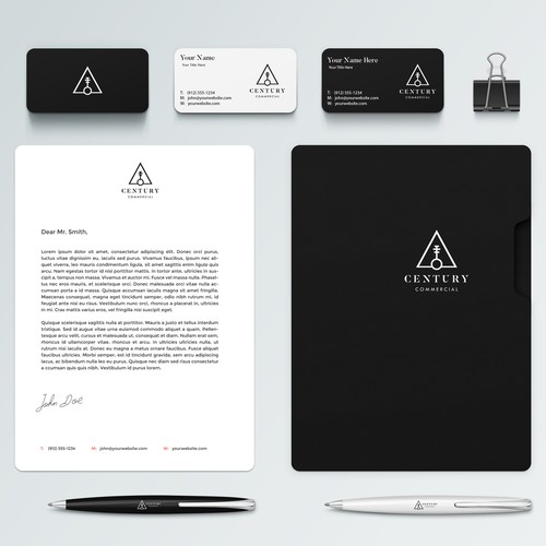 Real Estate Logo with stationery design.