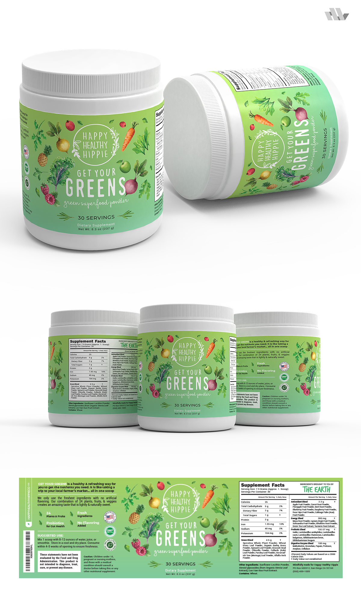 Get your greens - label redesign