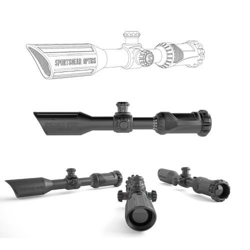 Industrial Design ( exterior look) of a riflescope