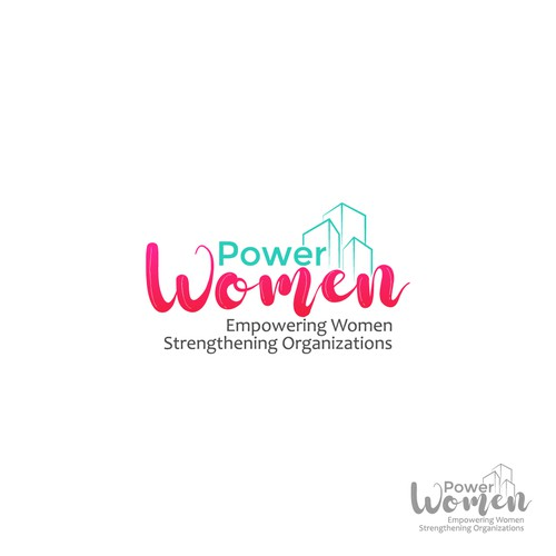 logo for a powerful new movement - Power Women - Empowering Women