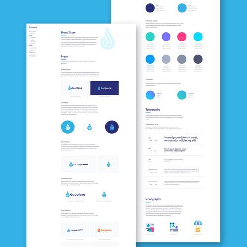 Brand Guide Design for Tech Company
