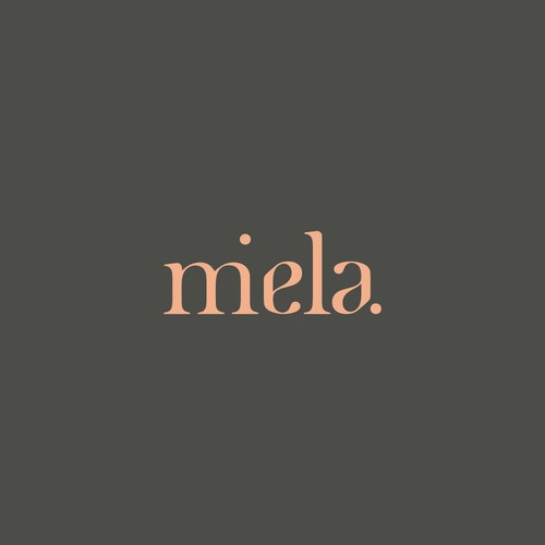 Logo concept for Miela providing holistic supplements and natural beauty products