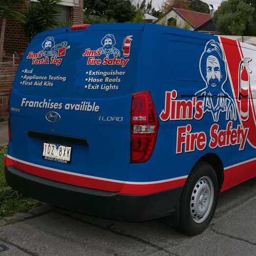 Jim's Fire Safety/Test and Tag Hyundai iLoad Van Wrap
