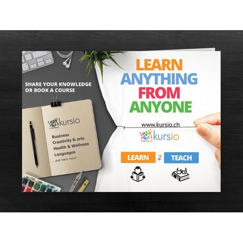 Creative Flyer for skillsharing platform