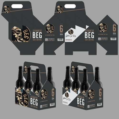 6 pack Beer Carrier Bag