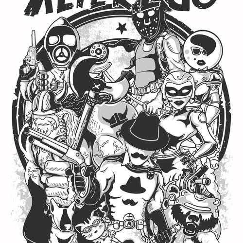 ALTEREGO PRODUCTIONS needs a SUPERHERO!! Make us a Comic Book Inspired graphic for our business tshirt!