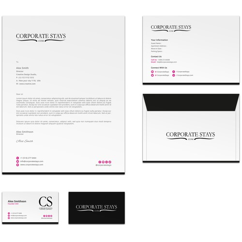 Brand identity design for CorporateStays