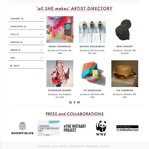 'all SHE makes' design