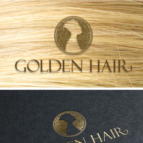 Golden hair logo