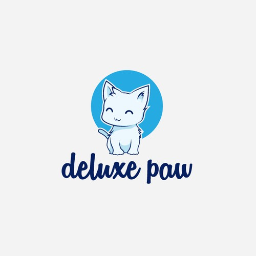 Cute cat logo entry for deluxe paw