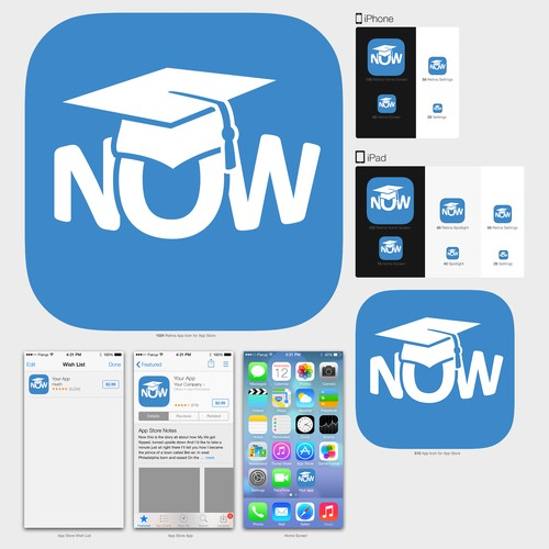 iOS Icon for On-Demand live video tutoring App