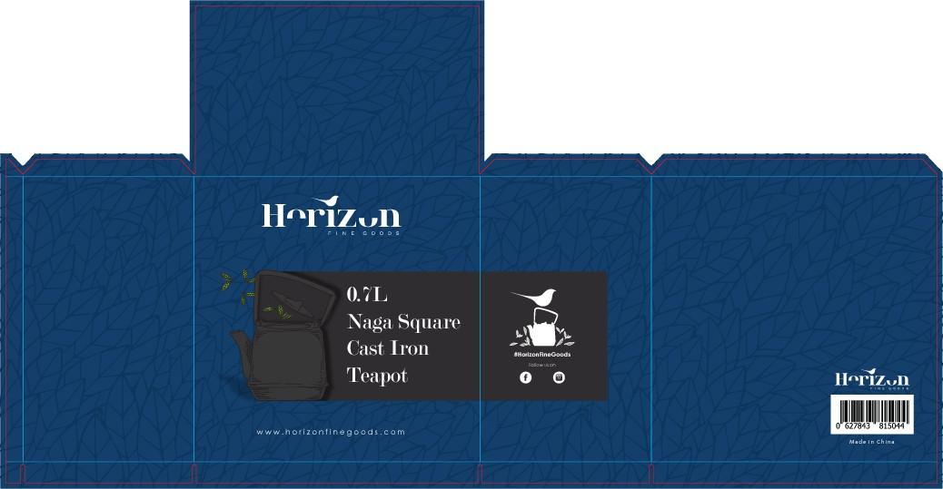 Design a high quality, luxury teapot box for Horizon Fine Goods