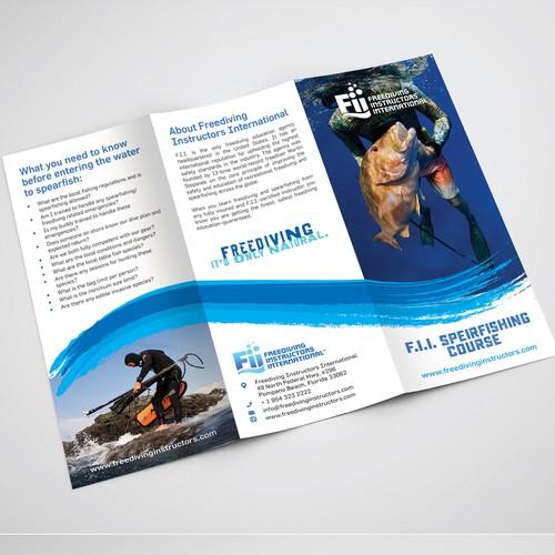 Tr-Fold Brochure for FII (FreeDiving Instructors)
