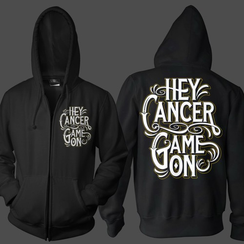 Zip-Up Hoodie Design for a Childhood Cancer NonProfit!