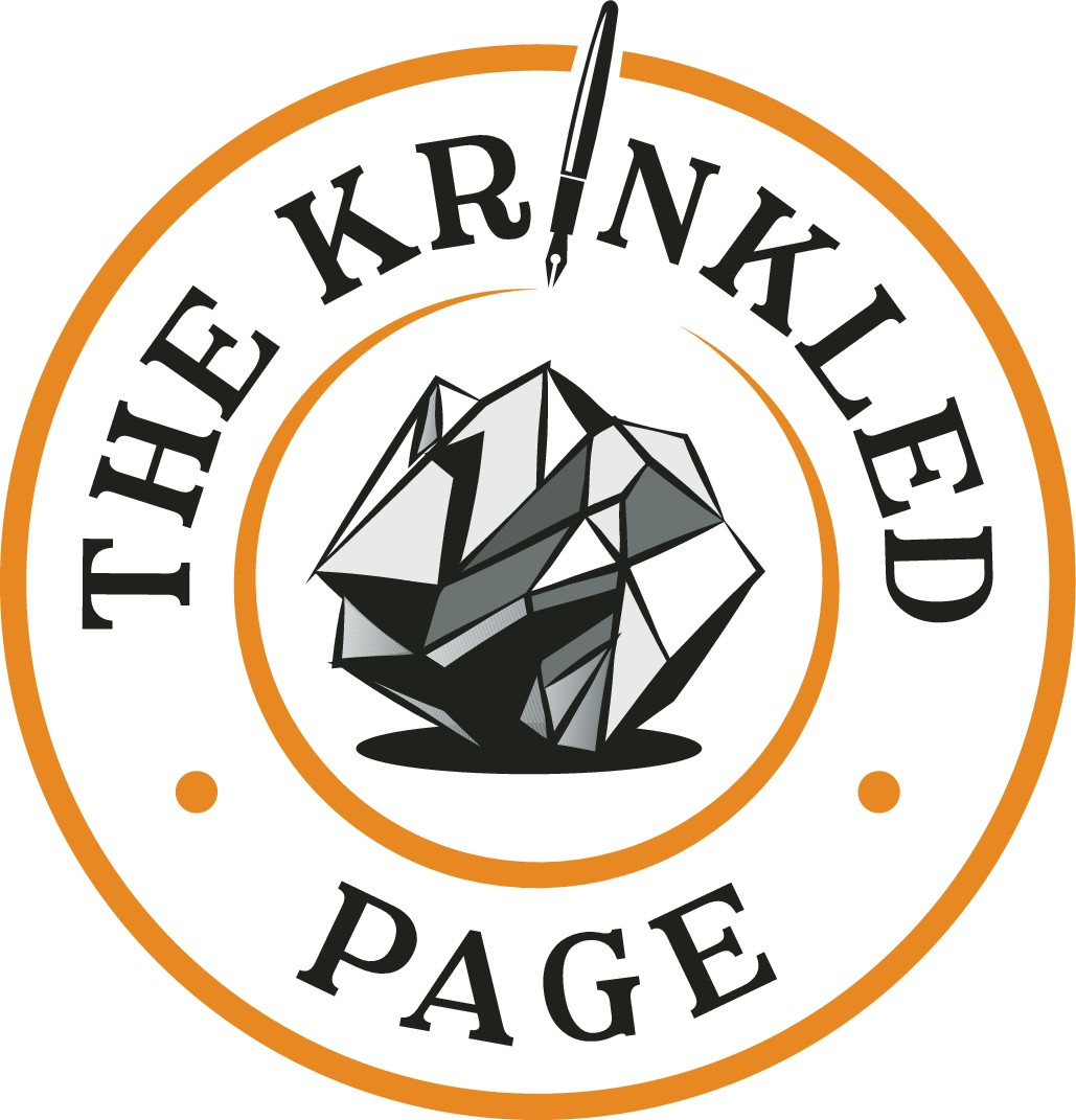 Inspire kids to write with a logo for The Krinkled Page