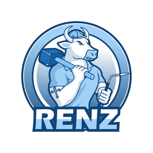 The Logo concept called for a bull with a reference to Christianity.