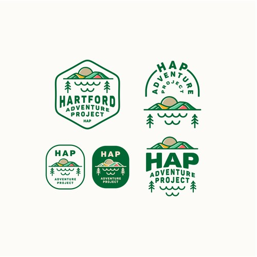 HAP (Hartford Adventure Project) logo design.
