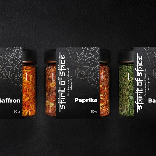 Label design for spice company