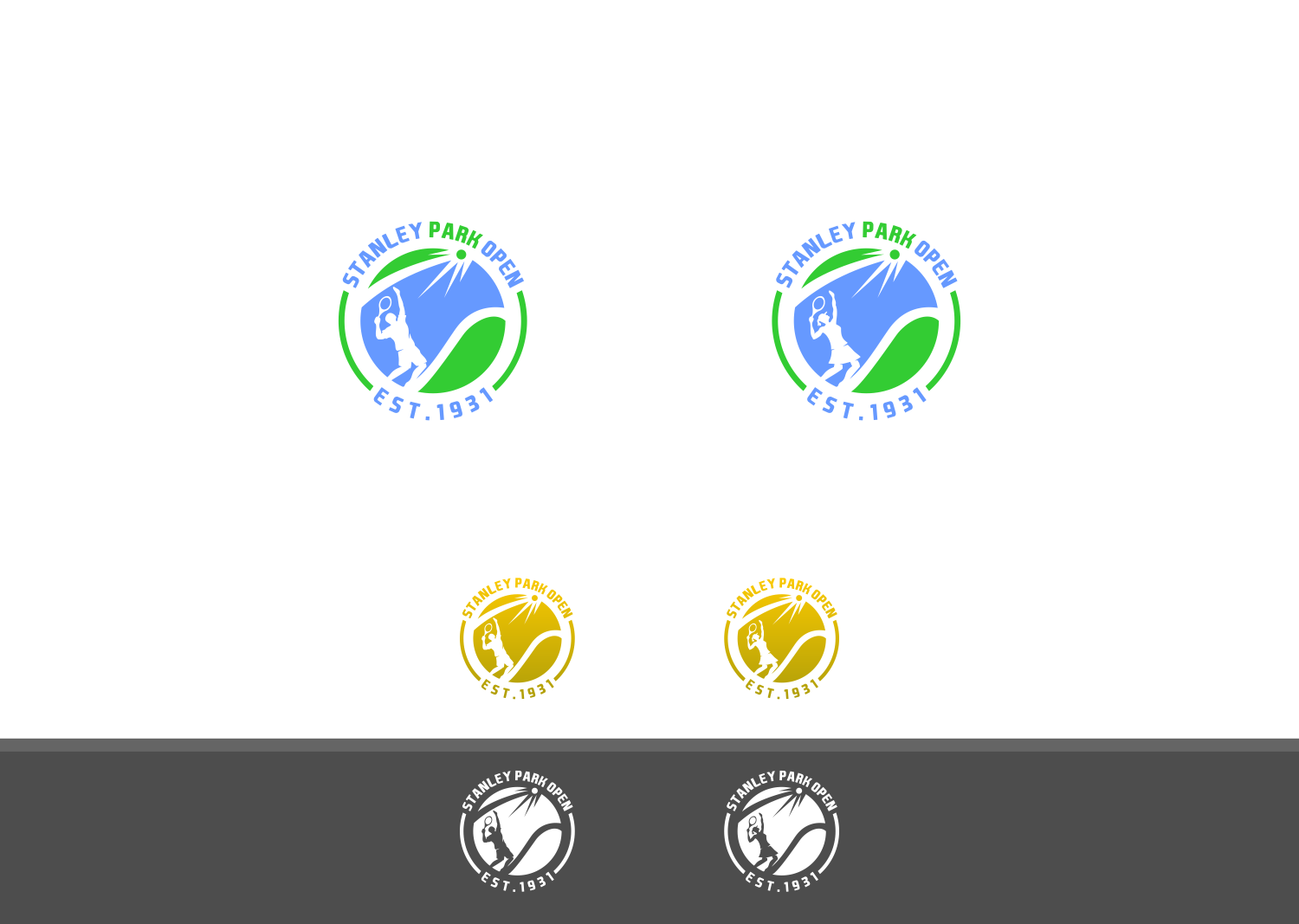 Create a t-shirt logo for the largest amateur tennis tournament in the world! The Stanley Park Open